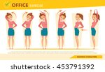 girl office syndrome info... | Shutterstock .eps vector #453791392