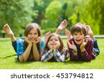 smiling kids having fun at... | Shutterstock . vector #453794812
