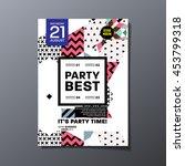 party poster  trendy geometric... | Shutterstock .eps vector #453799318