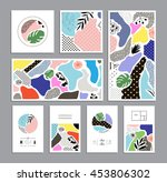 collection of trendy creative... | Shutterstock .eps vector #453806302
