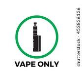 plate prohibiting smoking...   Shutterstock .eps vector #453826126
