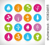 tree icons | Shutterstock .eps vector #453826855