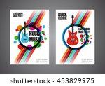 colorful music festival poster  ... | Shutterstock .eps vector #453829975