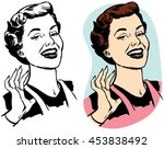a proud woman smiles | Shutterstock .eps vector #453838492