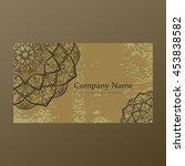 mandala round ornaments ... | Shutterstock .eps vector #453838582