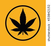 marijuana leaf vector icon.... | Shutterstock .eps vector #453842152