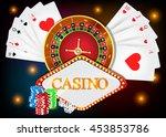 vector poker background with... | Shutterstock .eps vector #453853786