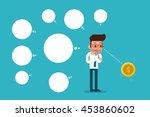 businessman thinking ideas ... | Shutterstock .eps vector #453860602