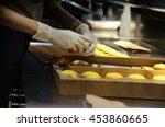 hand making cheese tart | Shutterstock . vector #453860665