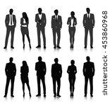 vector ui illustration business ... | Shutterstock .eps vector #453860968