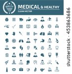 medical icon healthy care icon... | Shutterstock .eps vector #453863686