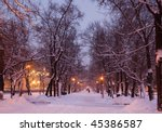 Winter Evening In One Of Mosco...