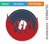 flame vinyl icon. flat color...