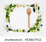 wooden ladle and space for your ... | Shutterstock . vector #453867922