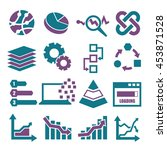 data analysis  information ... | Shutterstock .eps vector #453871528