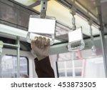 empty blank billboard... | Shutterstock . vector #453873505