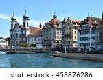 jesuit church in luzern ... | Shutterstock . vector #453876286