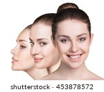 three perfect faces of beauty... | Shutterstock . vector #453878572