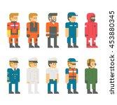 flat design coast guard uniform ... | Shutterstock .eps vector #453880345