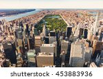 aerial view of central park and ... | Shutterstock . vector #453883936