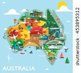 australia discover design...   Shutterstock .eps vector #453895312