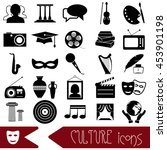 culture and art theme black...   Shutterstock .eps vector #453901198