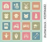 farming icon | Shutterstock .eps vector #453906682
