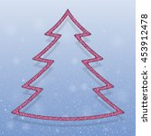 falling snow vector. winter... | Shutterstock .eps vector #453912478