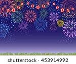 Fireworks And Grassland