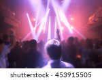 blurry night club dj party... | Shutterstock . vector #453915505