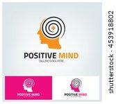positive mind logo design... | Shutterstock .eps vector #453918802