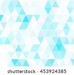 blue grid mosaic background ... | Shutterstock .eps vector #453924385