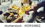 champagne celebration toast... | Shutterstock . vector #453924802