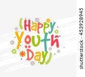 creative illustration banner or ... | Shutterstock .eps vector #453928945