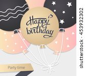 card with lettering happy... | Shutterstock .eps vector #453932302