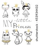 cute little princess cat ... | Shutterstock .eps vector #453934432