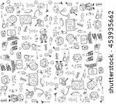 vector art doodle of element... | Shutterstock .eps vector #453935662