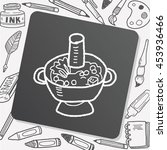 chafing dish doodle | Shutterstock .eps vector #453936466