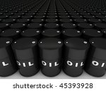 rows of oil barrels stretching... | Shutterstock . vector #45393928