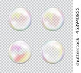 set of multicolored transparent ... | Shutterstock .eps vector #453940822