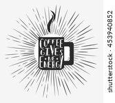 vector hand drawn typographic...   Shutterstock . vector #453940852