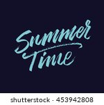 summer time. modern hand drawn... | Shutterstock .eps vector #453942808