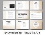 set of 9 vector templates for...   Shutterstock .eps vector #453945775
