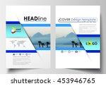 business templates for brochure ... | Shutterstock .eps vector #453946765
