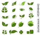 leaf icon with white background ... | Shutterstock .eps vector #453948442