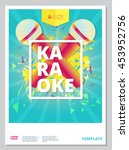 karaoke party flyer or poster... | Shutterstock .eps vector #453952756