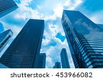 high rise buildings and blue... | Shutterstock . vector #453966082