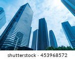 High Rise Buildings And Blue...