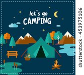 let's go camping. travel... | Shutterstock .eps vector #453975106