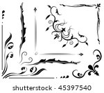 Gothic Corners Free Vector Art